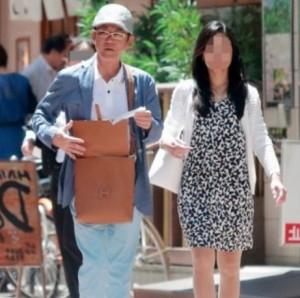 三遊亭円楽と不倫相手女性のフライデーツーショット画像