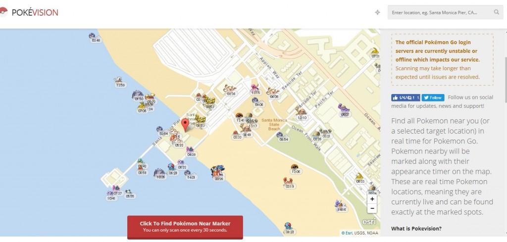 POKEVISION(ポケビジョン)地図一覧トップ