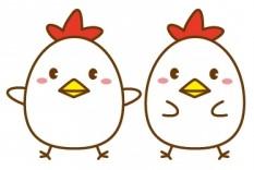 年賀状2017酉(鳥・鶏)の可愛いイラスト2