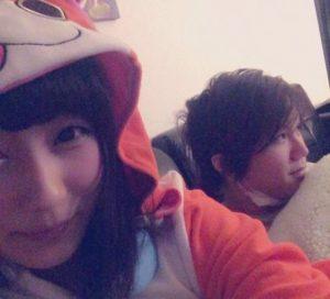 飛沫真鈴とHIWAのツーショット画像