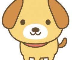 犬の可愛いイラスト無料素材1