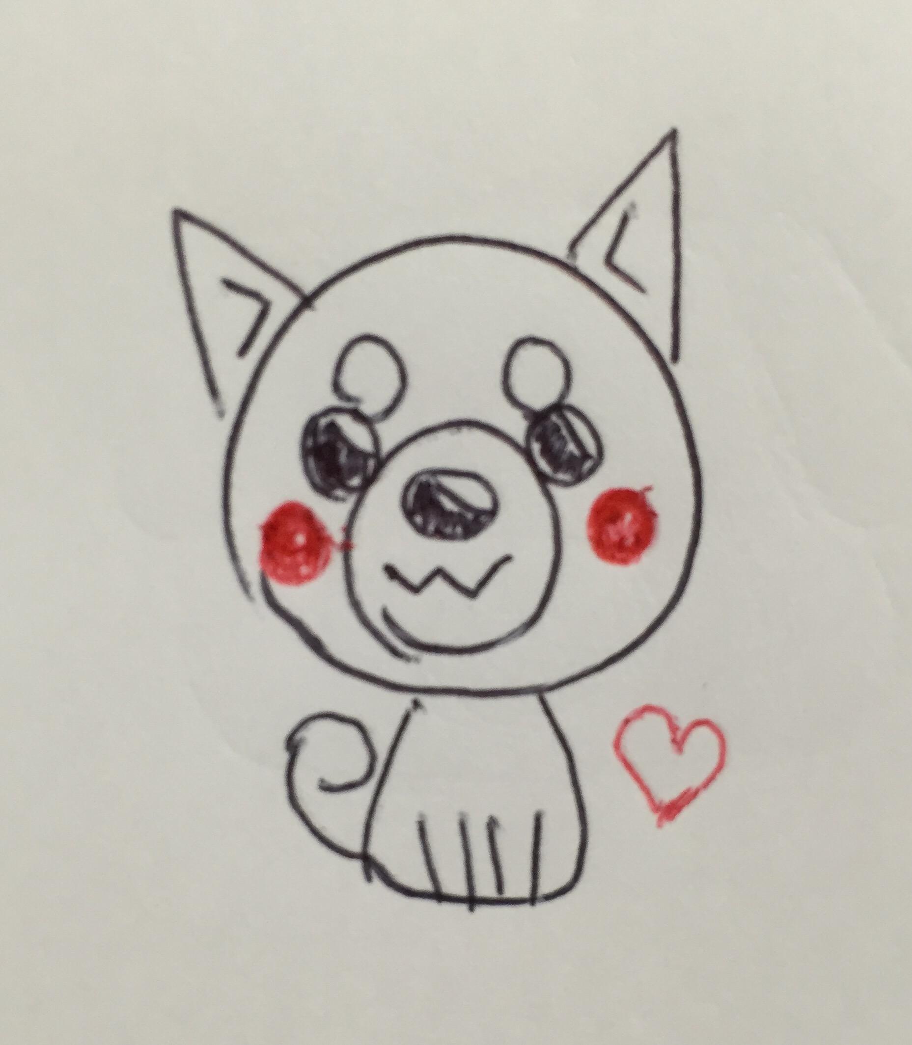 年賀状2018戌年(犬)のイラストの描き方!手作りで可愛い絵を描く方法を