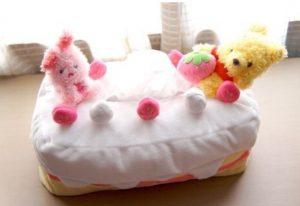 羽生結弦のティッシュカバーケース(ケーキ)プーさんとピグレット