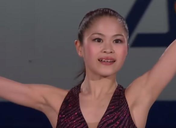 宮原知子の脇画像(2015世界選手権)