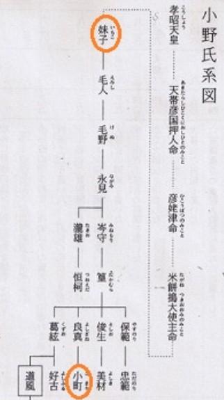 小野妹子えのきさりなの家系図