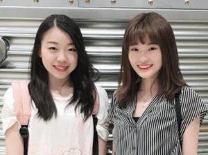 紀平梨花と紀平萌絵の姉妹画像2