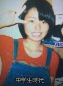 渡辺直美の中学生時代の画像