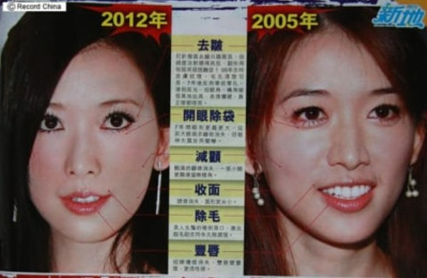 リンチーリン林志玲の昔の画像と比較