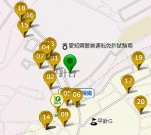 平針運転免許試験場駐車場コインパーキング地図