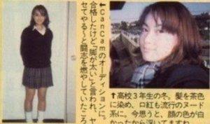 長谷川京子の昔の写真(CanCam専属モデルオーディション)