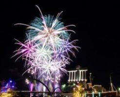 名古屋港の花火写真